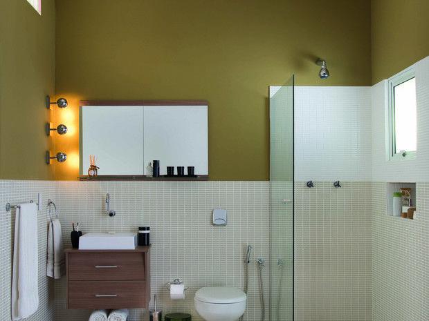 banheiro4  Bathroom  Pinterest -> Decoracao De Banheiro Com Ceramica Na Parede