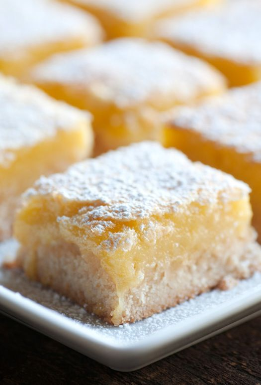 """I have got to try this recipe! My mom has always made lemon bars and there were my favorite treat.  repinned from """"Sinfully Rich Vegan Lemon Bars Recipe - The Culinary Life"""""""