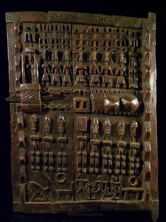 Africa | Dogon Door | Mali | Carved wood.