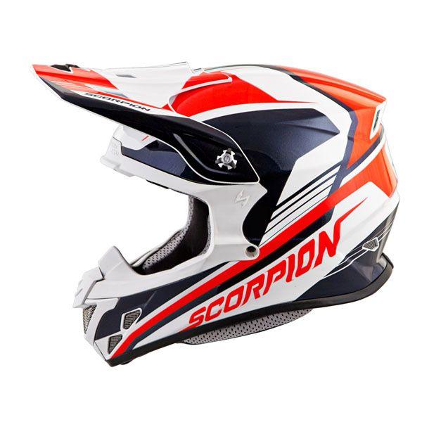 Scorpion VX-R70 ASCEND (NEON RED/BLU) DOT+ECE *Snow Compatible*