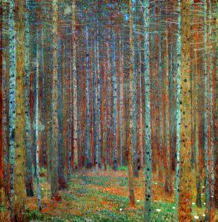 Gustav Klimt Tannenwald
