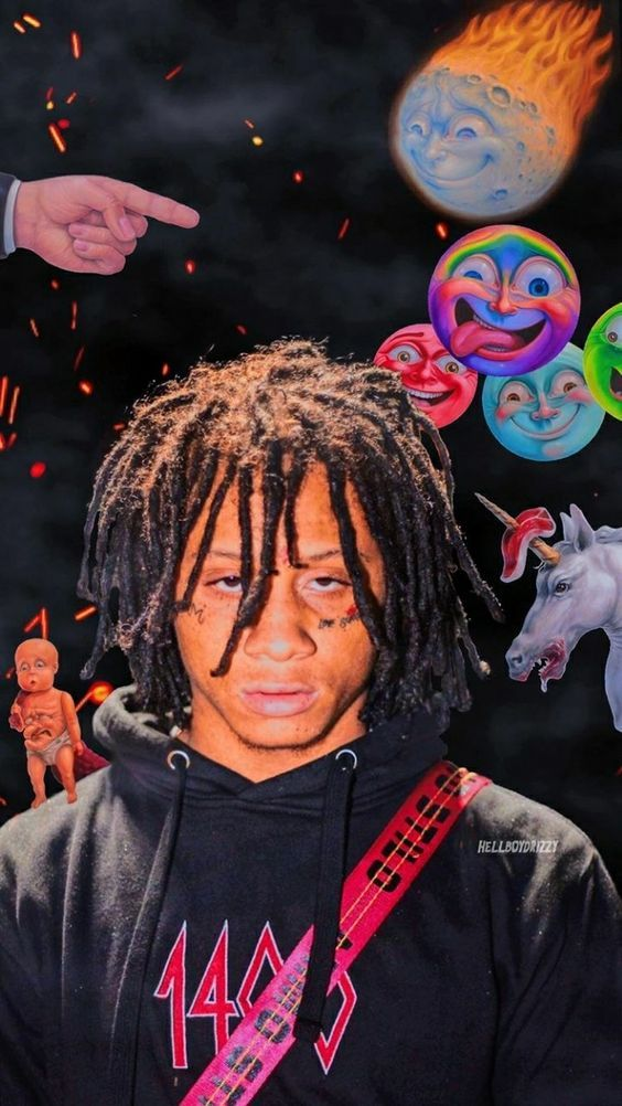 TrippieRedd ⚡ Rap wallpaper, Rapper wallpaper iphone