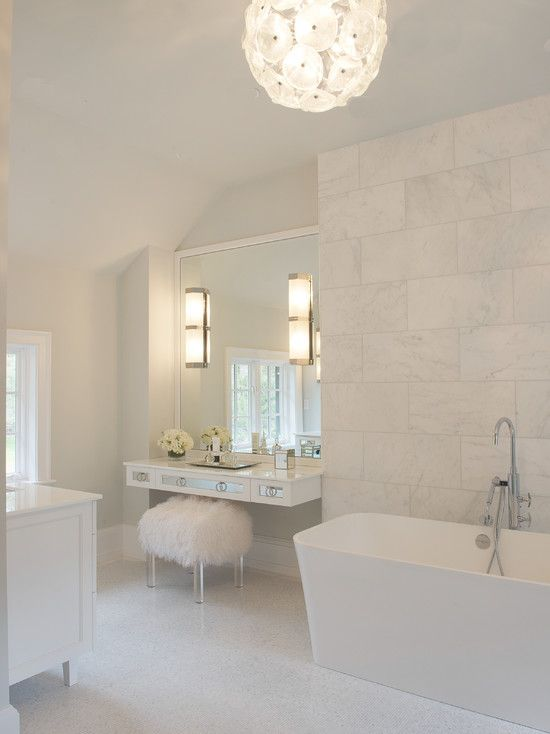 Floating Make Up Vanity, Contemporary, bathroom, Susan Glick Interiors