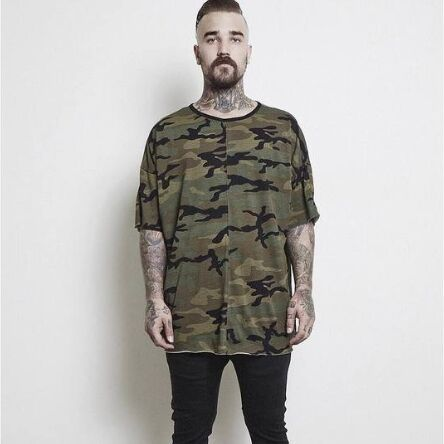 yezzy mens fashion streetwear kpop justin bieber hiphop clothes kanye mens clothing hipster camouflage oversized t shirt camo