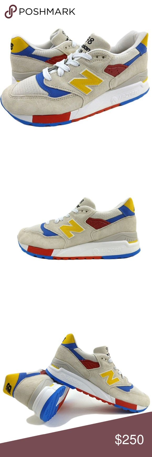 NEW BALANCE 998 J.CREW Collab Beachball Sz 8 Item: NEW BALANCE 998 J.CREW Collaboration Beachball Sz 8 Premium Suede M998JC8 Abzorb Retail $399 SIZE:  8 CONDITION:  Great condition New with tags No box 100% Authentic New Balance Shoes Athletic Shoes