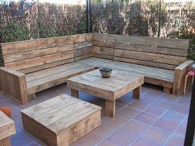 55 best images about creando con madera nuevos muebles for Sillones de patio de madera