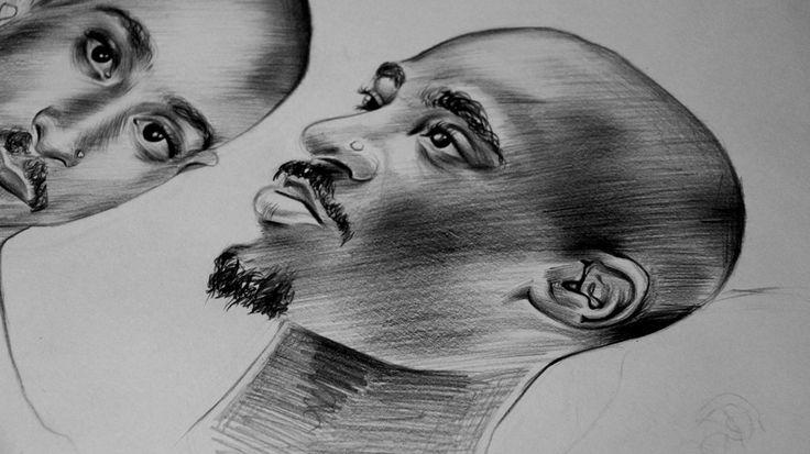 Tupac Shakur DETAIL 2Pac Hip Hop RAP María José Artgumedo, art Illustration