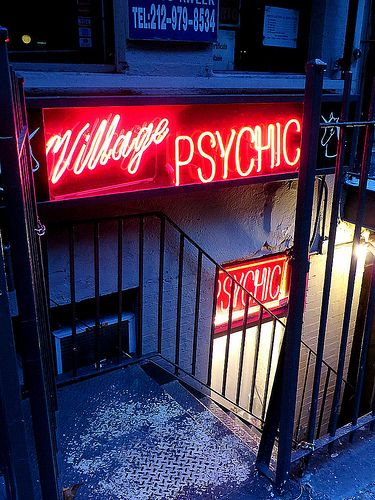 Village Psychic, 120 West 3rd Street, New York City. October 11, 2013.