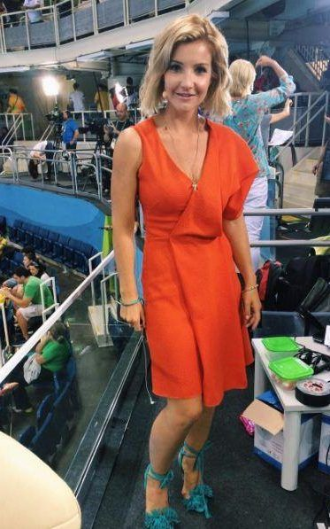 You could be forgiven for assuming that there is little more to Helen Skelton's Rio wardrobe than purposefully thigh-flashing, shoulder-baring dresses.