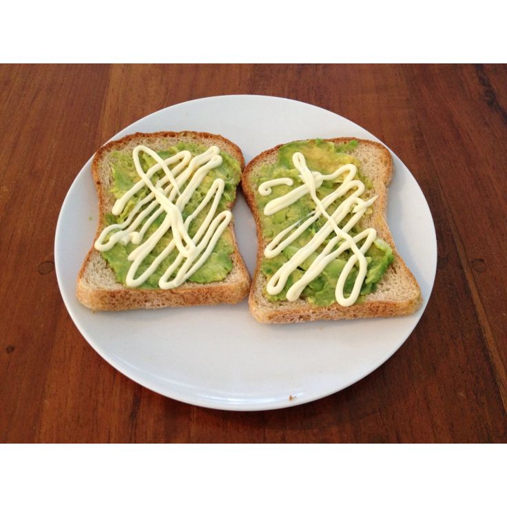 Mmmh one of my favourites- avocado and mayonnaise on gf bread