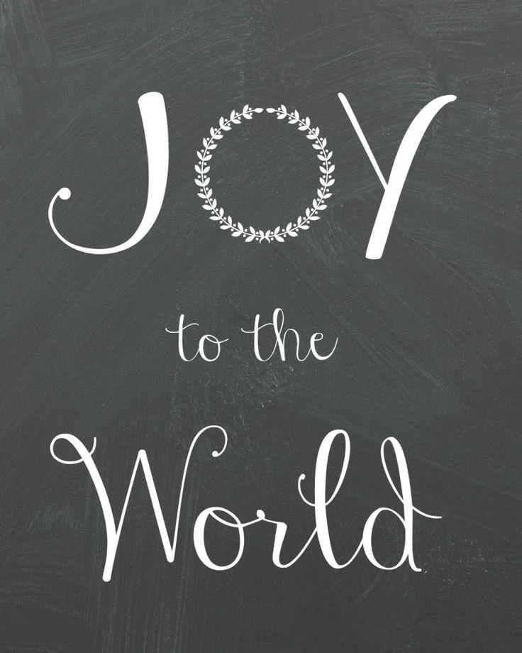 Joy To The World Printable Organize Amp Decorate Crafts