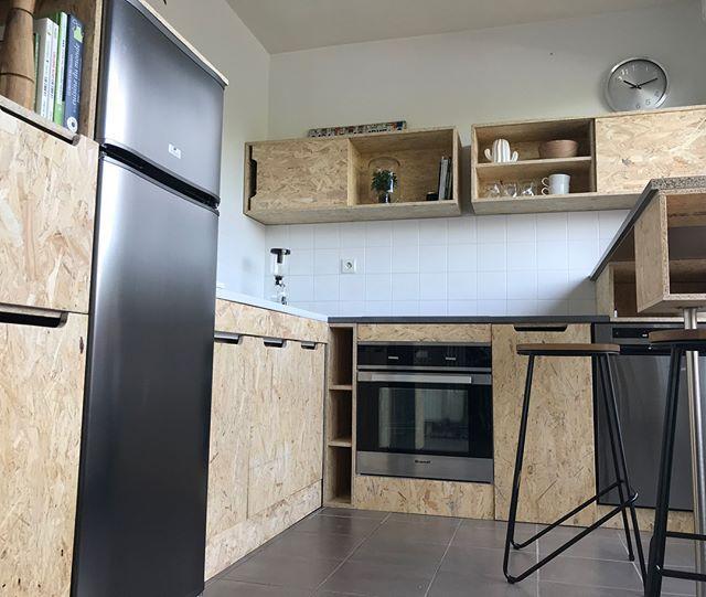 meuble #bois #wood #meublebois #osb #cuisine #cuisinebois #surmesure