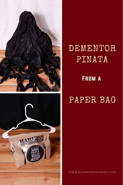 Housewife Eclectic: Harry Potter Dementor Paper Bag Pinata. How to make a pinata from a paper bag!