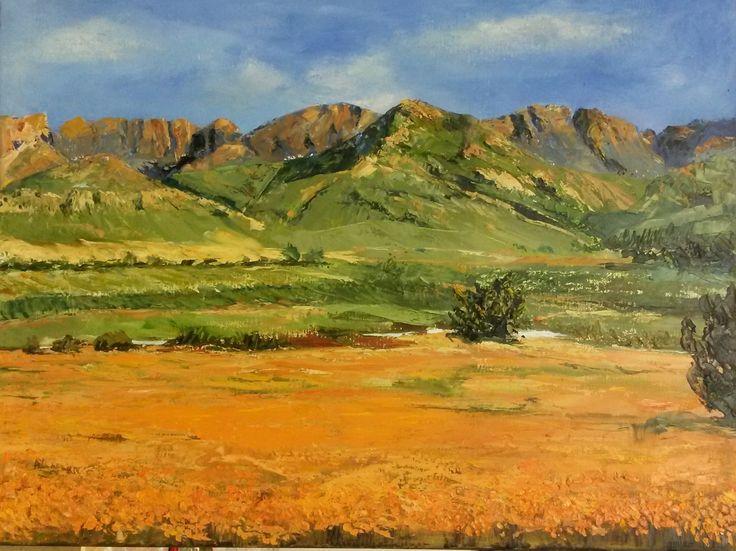Western Wonder.  55 x 65cm.  Oil on canvas