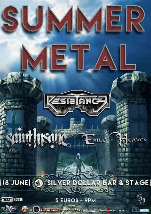 SUMMER METAL: Κυριακή 18 Ιουνίου @ Silver Dollar με Resistance, Exile of Heaven και Saint Insane
