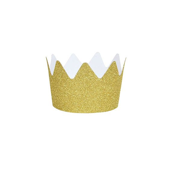 Hippenings GLITTER PARTY CROWNS - GOLD - great for hen party