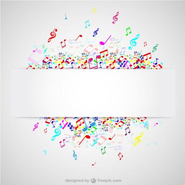Notas coloridas da música do vetor