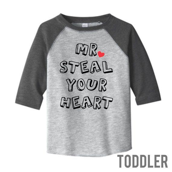 5f2c40c5a Toddler Boy Valentine Shirt | Mr Steal Your Heart | Boy Valentines Outfit |  Valentine Shirt | Boy Valentine Shirt | Kids Valentine Shirt