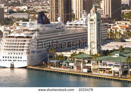Pride Of America Cruise Ship Docked In Honolulu Harbor At The ...