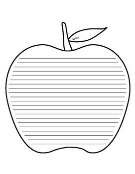 Apple Lined Paper Intermediate Paper, Paper dolls