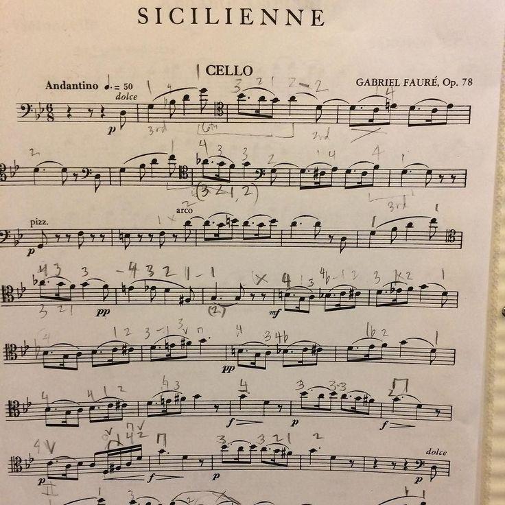 #cello #sheetmusic #sicilienne#gabrielfaure #hobby #practice #instamusic #music #piano #violin #guitar #flute #clarinet #golf #art #fashion #movie #seattle #coffee #rain#books #포레#시실리안#첼로#뮤직#아트 #악보#커피 by ellise716
