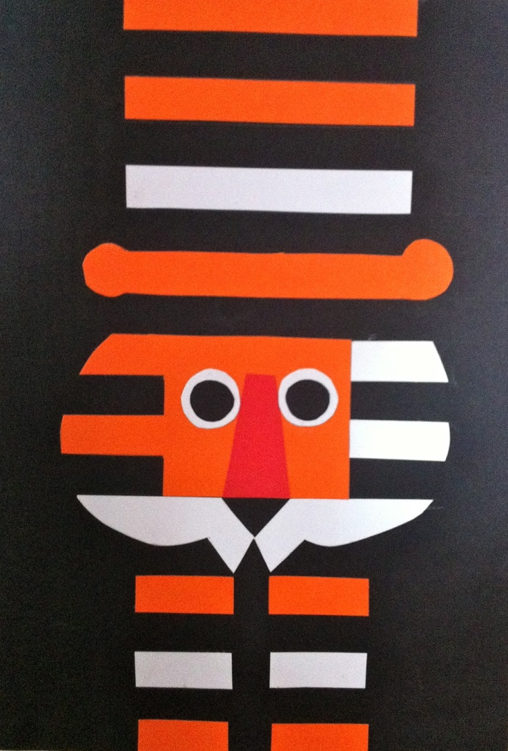 Love this Tiger Art from...look, love, create: The Tiger Who Came To Tea by Judith Kerr