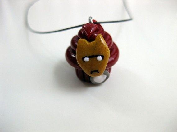 Iron Man Cupcake Pendant by TheBirdTheBee on Etsy, $10.00