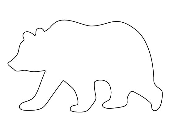 Grizzly Bear pattern. Use the printable pattern for crafts, creating stencils, scrapbooking, and more. Free PDF template to download and print at http://patternuniverse.com/download/grizzly-bear-pattern/