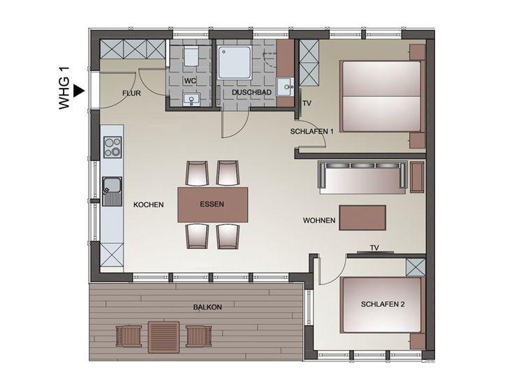 Ferienwohnung Typ D 1 in 2020 Ferienwohnung, Wohnung