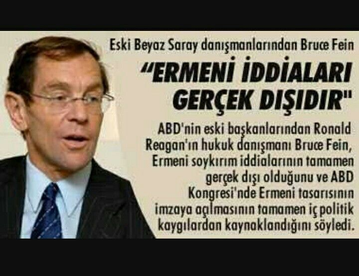 American Lawyer &Political Consultant BRUCE FEİN/Armenian Lobies are lying!