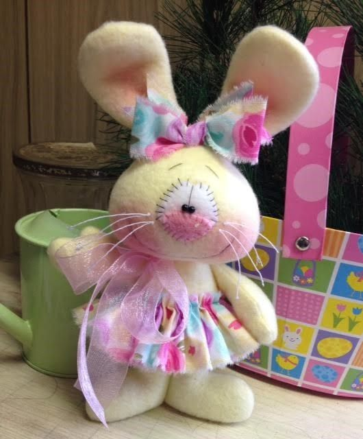 Primitive HC Easter Bunny Rabbit Doll  Spring Flowers Super Cute! #IsntThatCute #ValentinesDay