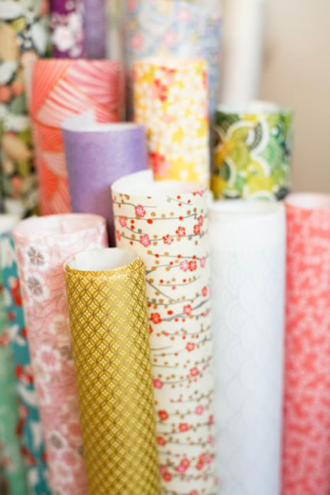 Japanese wrapping papers. The Japanese love to give and receive gifts.