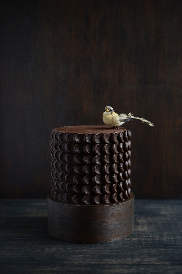 chocolate cake with bird | Flickr - Photo Sharing!