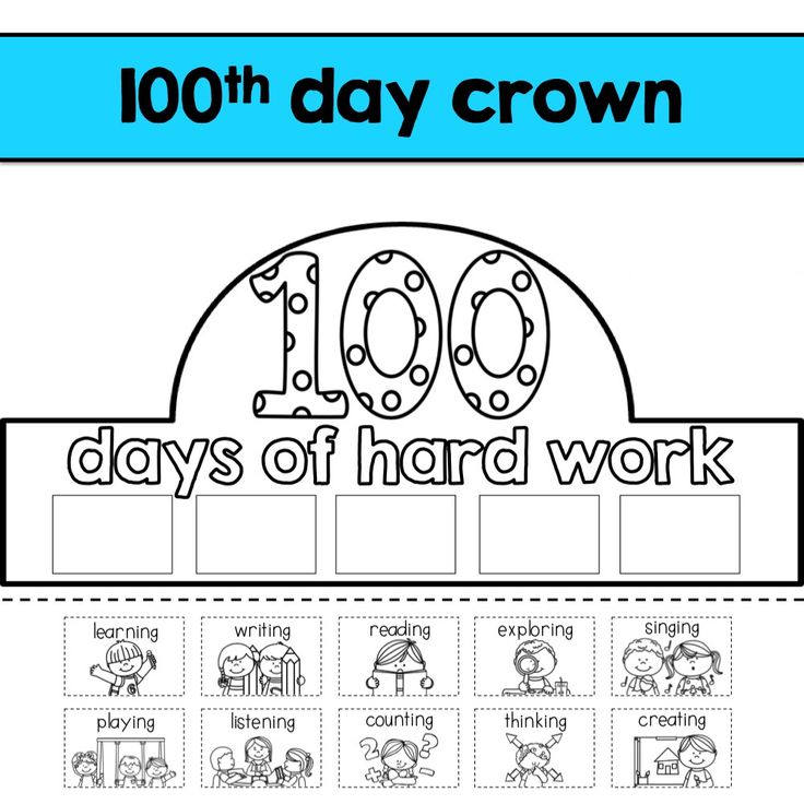 26 best 100th day of school images on pinterest 100th for 100th day of school crown template