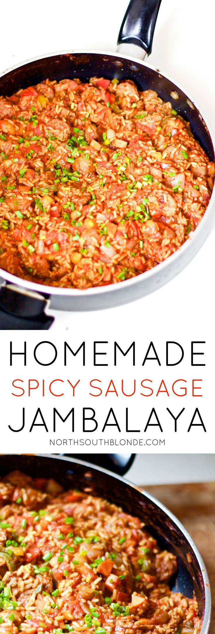An easy one pot dinner recipe that's perfect for spicy food lovers. Homemade spicy sausage jambalaya is savoury and mouth watering, easy to cook up and is a hearty, wholesome, and gluten-free meal. Dinner | One-Pot | Stew | Southern | Authentic | Lunch | Entertain | Sauce | Healthy | Spice | From Scratch | Meal Ideas | Cooking | Delicious | Hot | Spicy | Hearty | Fibre | Gluten-Free | Dairy-Free | Cajun | SouthWest | Tasty | Family Friendly |