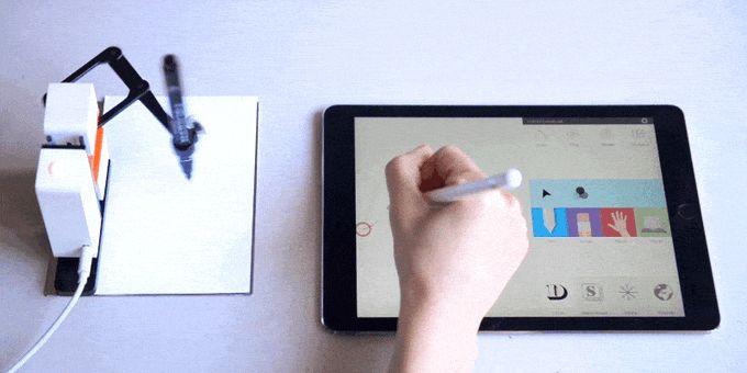 Ekranınızdaki şekil ve yazıları, kalem ve mürekkep çizimlere dönüştüren bir robot! Böylelikle duvarınızı süsleyebilirsiniz. #İşCep #AnındaBankacılık #teknoloji #technology #digital #dijital #teknolojitasarım #teknolojiicatları #teknolojiürünleri
