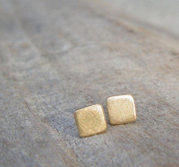 Gold Stud Earrings 5mm Small Gold Earrings Gold by ravitschwartz, $24.00