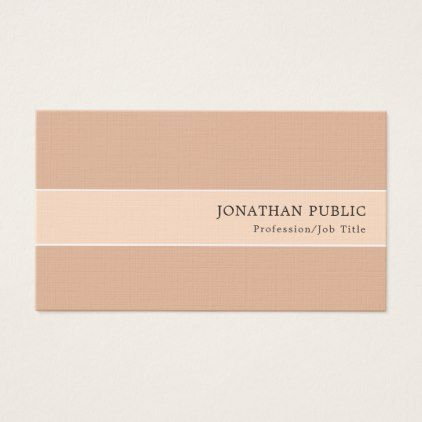 Elegant Color Harmony Modern Premium Linen Luxury Business Card - real estate gifts business cyo diy customize