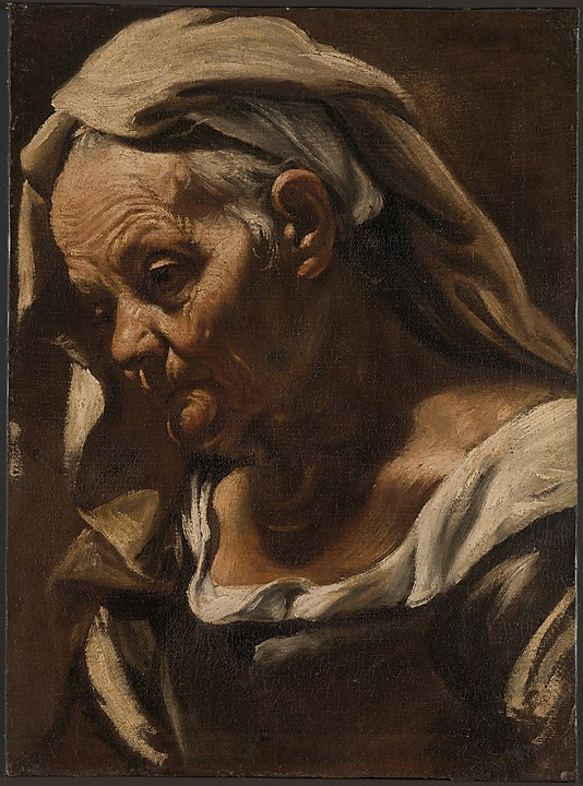 Orazio Borgianni (Rome 1574–1616 Rome), Head of an Old Woman, after 1610, oil on canvas. The Metropolitan Museum of Art, NY.