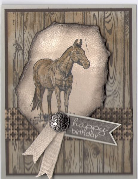 Horse Frontier - Terry Morelli, Horse Frontier , Hardwood and Banner Greetings