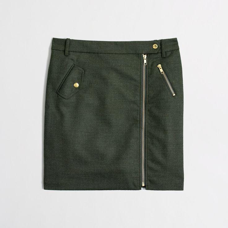 Factory zip mini in wool - Mini/A-Line - FactoryWomen's Skirts - J.Crew Factory