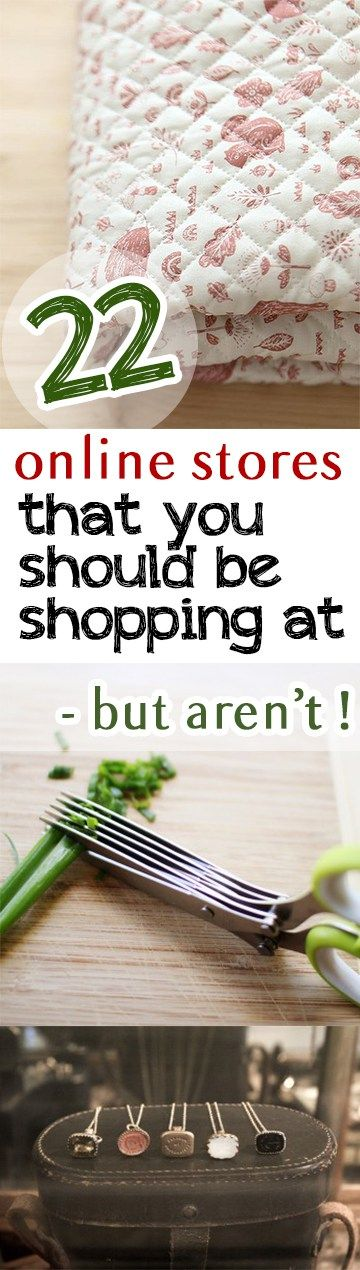 22 Online Stores That You Should Be Shopping at- But Aren't!