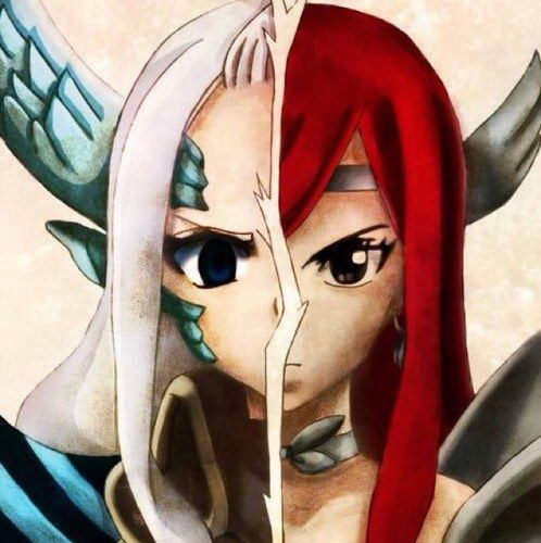 fairy tail mira jane and erza scarlet fairy tail