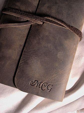 monogram: Leather Journal