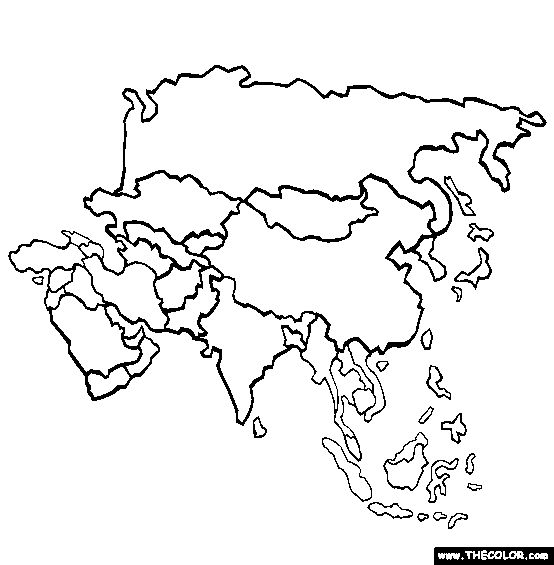 Asia Coloring Page | Free Asia Online Coloring