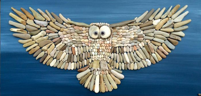 This Artists Creates Masterpieces From Stones He Finds On The Beach (12 images) | Kenga Rex