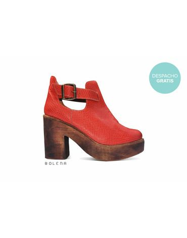 Botín Adele Rojo | Chilean handmade shoes