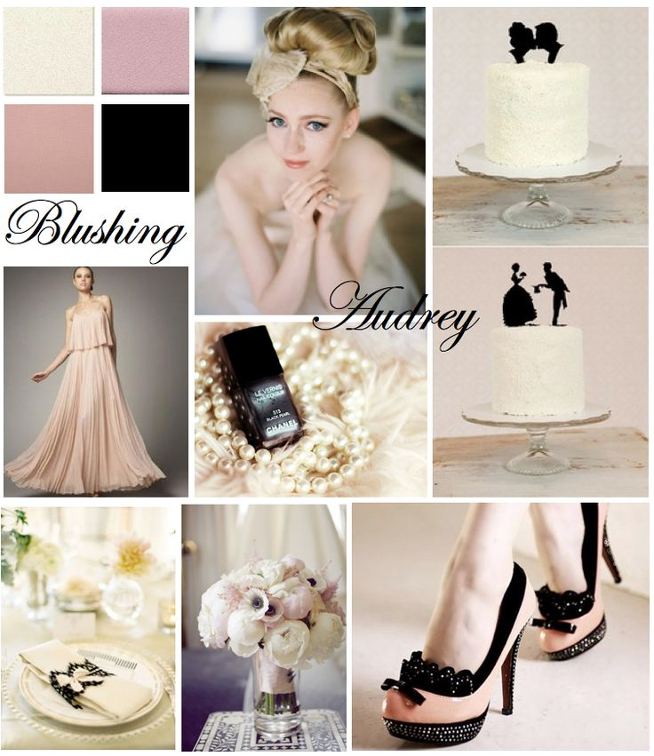 Blushing Audrey inspiration board. love it.