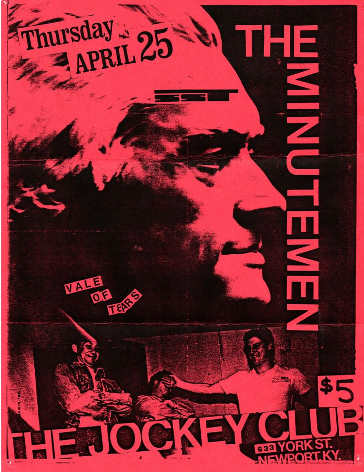 Minutemen and Vale of Tears at The Jockey Club, Newport, KY - 1985