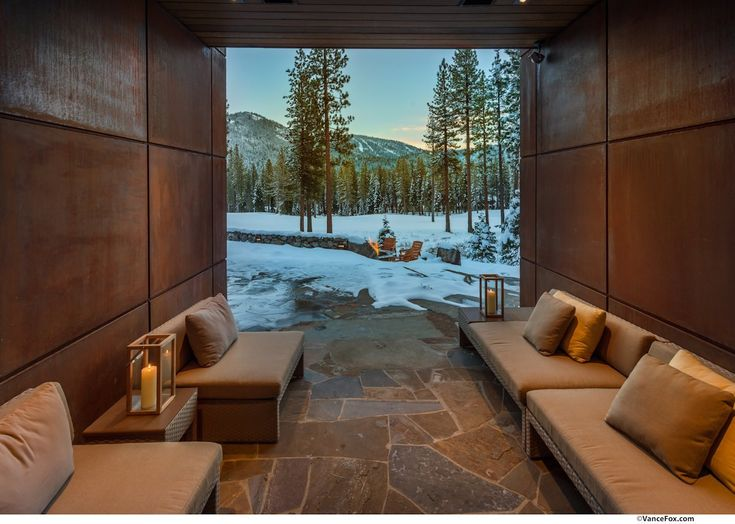 Enjoying the view in this room, located in Lake Tahoe, California [1200 x 855] - Interior Design Ideas, Interior Decor and Designs, Home Design Inspiration, Room Design Ideas, Interior Decorating, Furniture And Accessories